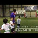 少年サッカー練習メニュー 後ろからのパスをシュートする練習